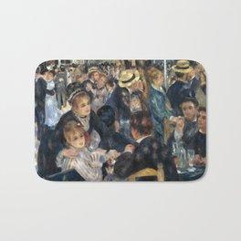 Auguste Renoir -Bal du moulin de la galette, Dance at Le moulin de la Galette Bath Mat