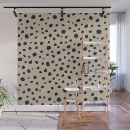 Spots Animal Print Beige Wall Mural