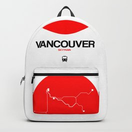 Vancouver Red Subway Map Backpack