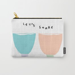 Words from Colorful Bowls - kitchen illustration Carry-All Pouch