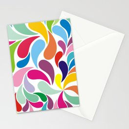 Rainbow colorful paisely on white Stationery Cards