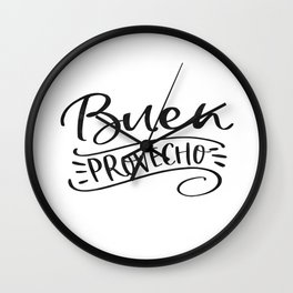 BUEN PROVECHO SIGN, Bon Appetit Sign,Spanish Decor,Spanish Gifts,Food Gift,Kitchen Decor Wall Clock