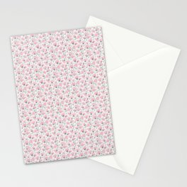 Pink Watercolor Peonies Floral Pattern Small Stationery Cards