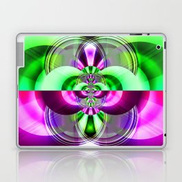 Symmetry green pink Laptop & iPad Skin
