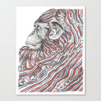 ape Canvas Prints featuring Ape by Guillem Bosch