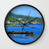 500 days of summer Wall Clocks featuring Summer Days by Phil Smyth