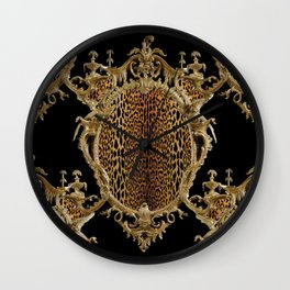 Leopard Chinoise Wall Clock