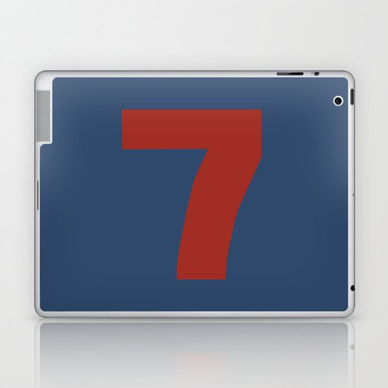 Number 7 Laptop & iPad Skin