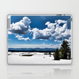 Cloudy Snowy Open Ladscape - Crater Lake National Park, Oregon Laptop & iPad Skin