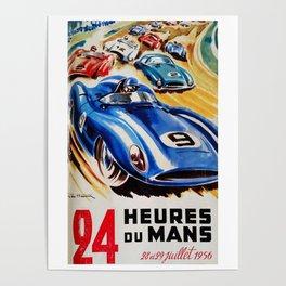 Le Mans 1956, vintage poster, Le Mans t-shirt, 24hs Le Mans Poster