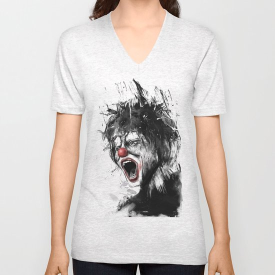 the clown Unisex V-Neck