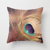 metallic Throw Pillows featuring Metallic by BURNEDINTOMYHE∆RT♥