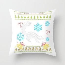 Pet Skunk Christmas Sweater Shirt Skunks As Pets Throw Pillow