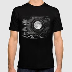 Moon Glow Mens Fitted Tee Black MEDIUM