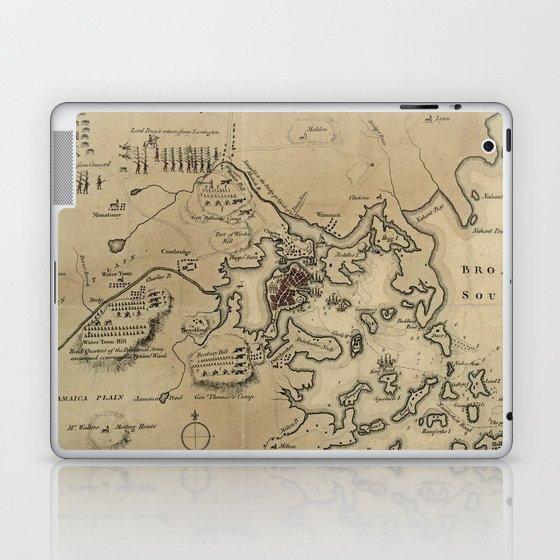 Vintage Boston Revolutionary War Map (1775) Laptop & iPad Skin by ...