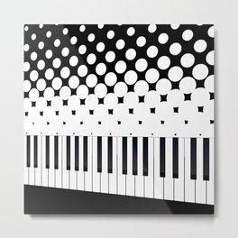 Keyboard Halftone Metal Print