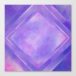 Mosaic Tile // Violet Watercolour Canvas Print