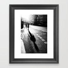 skating Framed Art Print
