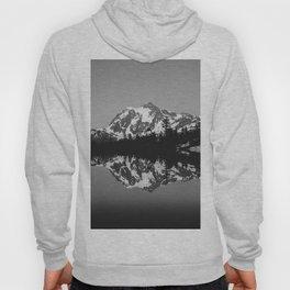 Mt. Shuksan - Lake Reflection Black and White Hoody
