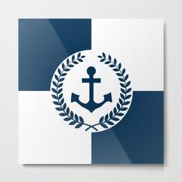 Nautical themed design 2 Metal Print