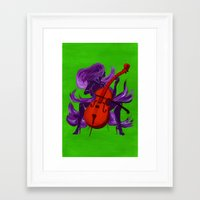 cello Framed Art Prints featuring Cello by Christine Alexandria