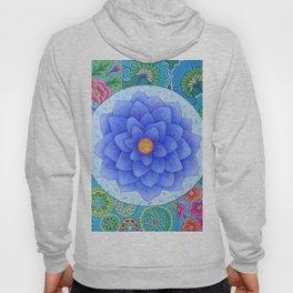 Violet Flower Mandala Hoody