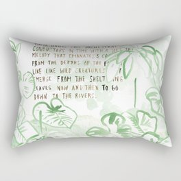 """Conquest of the Useless"" by Werner Herzog Print (v. 3) Rectangular Pillow"