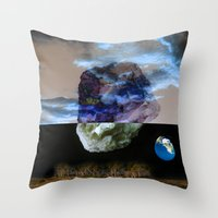 sagan Throw Pillows featuring Multiverse by Deepti Munshaw
