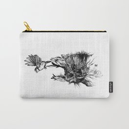 Beautiful owl with bluetit Carry-All Pouch