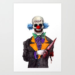 Smiley the Clown Art Print