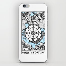 Modern Tarot Design - 10 Wheel of Fortune iPhone Skin