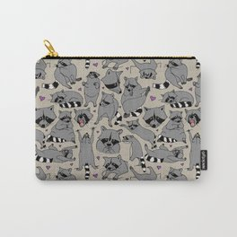 Raccoon Pattern Carry-All Pouch