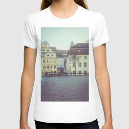 Colorful low rise residences in a town T-shirt