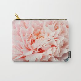 Peony Flower Photography, Pink Peony Floral Art Print Nursery Decor A Happy Life  - Peonies 1 Carry-All Pouch