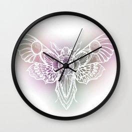 Botanical Moth, Moth Art, Succulent Hues Wall Clock