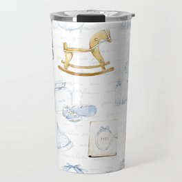 Baby Boy Fashion Pattern Travel Mug