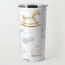 Baby Boy Fashion Pattern Travel Mug
