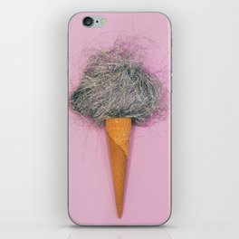 candyfloss in a waffle cone iPhone Skin