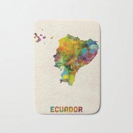 Ecuador Watercolor Map Bath Mat