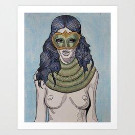 Snake Scarf Art Print