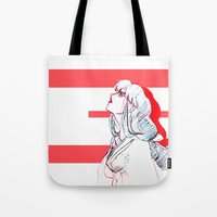 inuyasha Tote Bags featuring A Tragic Love by nico_lle