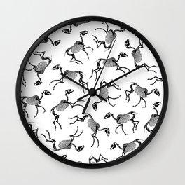 Horse Skeletons Wall Clock