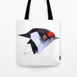 Geometric bird Tangarazinho Black Gray red Tote Bag