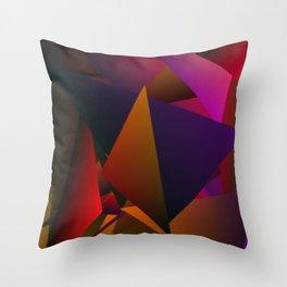 Smoke Screen Abstract 4 Throw Pillow