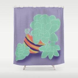 Soft Succulents Shower Curtain