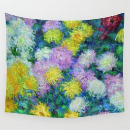 """Claude Monet """"Chrysanthemums"""", 1897 Wall Tapestry"""