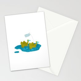 Two ways of beating a drum Stationery Cards