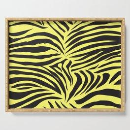 Yellow Zebra Jungle Pattern Serving Tray