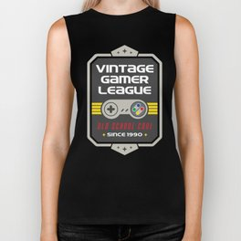 Geeky Gamer Chic Classic Vintage Gaming SNES Inspired Vintage Gamer League Old School Cool Biker Tank