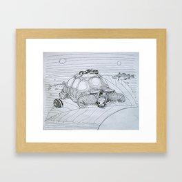 La tortue Framed Art Print